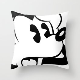 "Mickey: ""I did what?"" Throw Pillow"