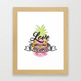 Funny Exotic Pineapple Fruit Summer Sun Beach Gift Framed Art Print