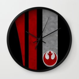 Poe's helmet patern Wall Clock