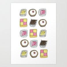 A TASTE OF CHILDHOOD: CAKES Art Print