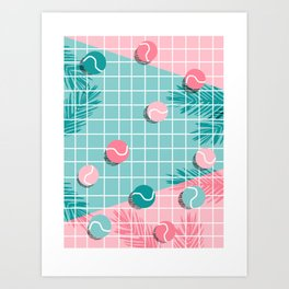 Shot Caller - memphis throwback palm springs country club tennis athlete pro sports 1980s retro city Art Print