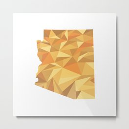 Arizona Pattern Map Art Metal Print