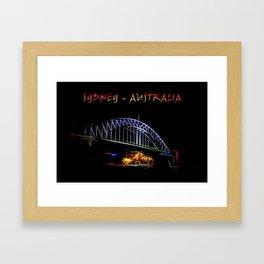 Electrified Sydney Framed Art Print