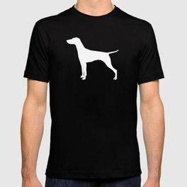 Vizsla minimal basic grey and white dog art dog breed pet portraits dog breeds T-shirt