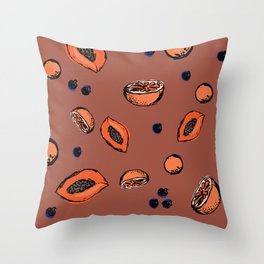Smoothie Mix Throw Pillow