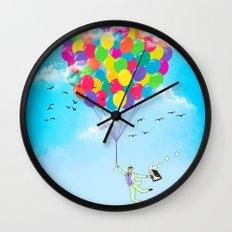 Neon Flight Wall Clock