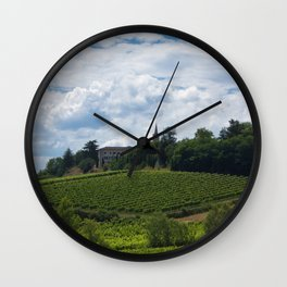 vineyards in France Wall Clock