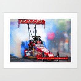 Budweiser Dragster 16,5 x 11,8 Art Print