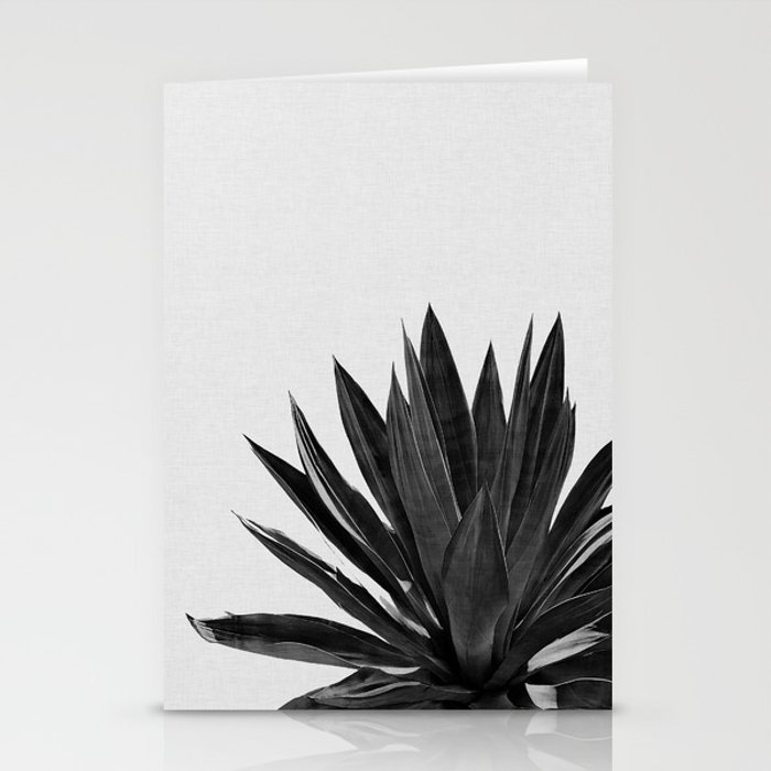 Agave Cactus Black & White Stationery Cards
