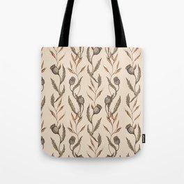 Poppy Pod Pattern Tote Bag