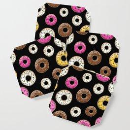 Funfetti Donuts - Black Coaster