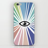all seeing eye iPhone & iPod Skins featuring All seeing eye  by Nobra