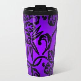 Deep Purple Japanese Leaf Design Travel Mug