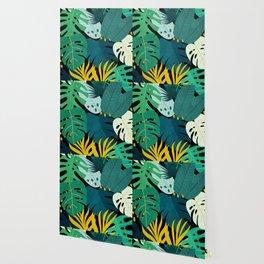 Tropical Jungle Leaves Wallpaper