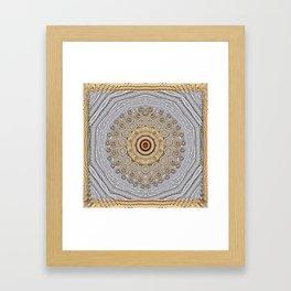 Cartoon wood Framed Art Print