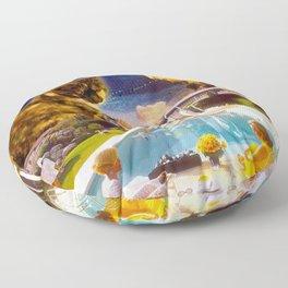 Midcentury Radioactive Cuddle Unit 5 Floor Pillow