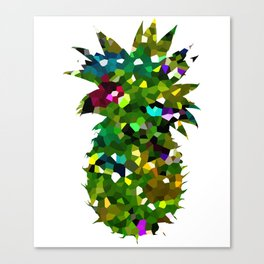 Pineapple Abstract Geometric Canvas Print
