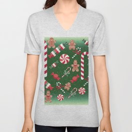 Christmas Candy Cheer Unisex V-Neck