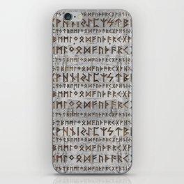 Elder Futhark Pattern on birch texture iPhone Skin