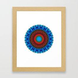 Inner Peace - Kaliedescope Mandala By Sharon Cummings Framed Art Print