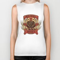 whisky Biker Tanks featuring Red Whisky by Corey Courts