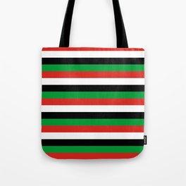 libya Sudan Syria United Arab Emirates Western Sahara flag stripes Tote Bag