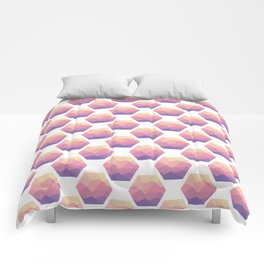 Low poly hexagons Comforters