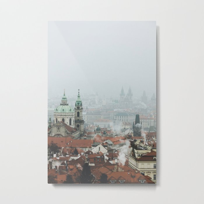 Cold Mornings over Prague Metal Print
