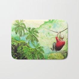 Zip-Line Watercolor Bath Mat