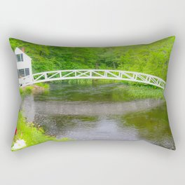 New England Arched Bridge Print Rectangular Pillow