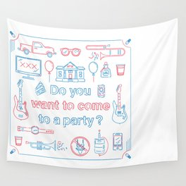 "Blink 182 ""Do you wanna go to a party?"" Wall Tapestry"