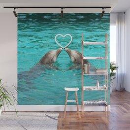 Dolphin Love Wall Mural