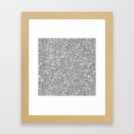Silver Gray Glitter Framed Art Print