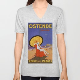 Ostend Queen of beaches jazz age Unisex V-Neck