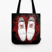 shoes Tote Bags featuring Shoes by Tamar Kasparian