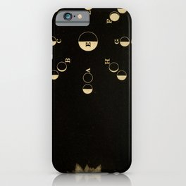 Kendall - Uranography; or a Description of the Heavens (1850) - Phases of the Moon iPhone Case