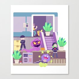 Tiny Worlds - Rocket HQ Canvas Print