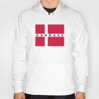 denmark Hoodies featuring denmark country flag danmark name text by tony tudor