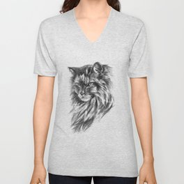 Maine Coon Cat Unisex V-Neck