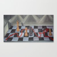 chess Canvas Prints featuring Chess by Lark Nouveau Studio