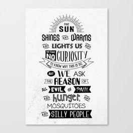 Lab No. 4 The Sun Shines Ralph Waldo Emerson Inspirational Quote Canvas Print