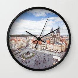 Old Town Square in Prague Wall Clock