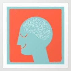[male] Human Mind Art Print