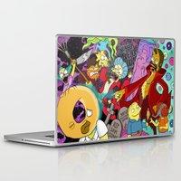 simpsons Laptop & iPad Skins featuring Simpsons Halloween Bonanza by Laura Von Burns