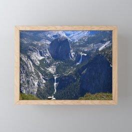Vernal Falls And Nevada Falls Framed Mini Art Print