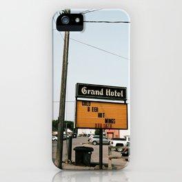 Grand Hotel iPhone Case
