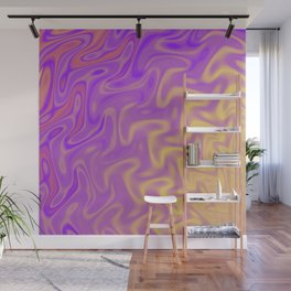 Ripples Fractal in Tropical Punch Wall Mural