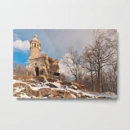 Winter Gettysburg Castle Metal Print