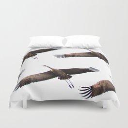 Cranes in flight #decor #society6 Duvet Cover
