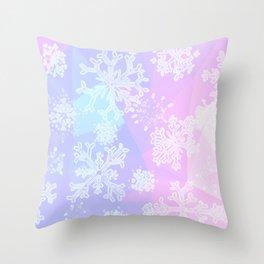 Snow on Christmas Day Throw Pillow